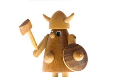 Wooden viking Royalty Free Stock Image