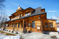 Wooden villa called Jutrzenka in Zakopane Royalty Free Stock Photo