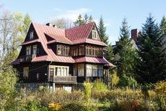 Wooden villa called Ros-Ami in Zakopane Royalty Free Stock Image