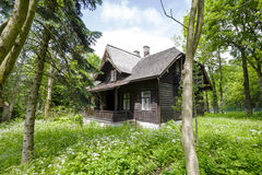 Wooden villa named Jadwiniowka I in Zakopane Royalty Free Stock Photo