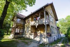 Wooden villa named Jerzewo in city of Zakopane Royalty Free Stock Photos