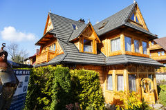 Wooden villa named Matylda in Zakopane Stock Photo