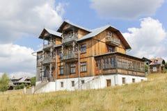 Wooden villa in the tourist settlement Czorsztyn, Poland Royalty Free Stock Image
