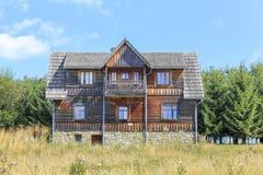 Wooden villa in the tourist settlement Czorsztyn, Poland Royalty Free Stock Photography