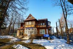 Wooden Villa in Zakopane, Poland Royalty Free Stock Image