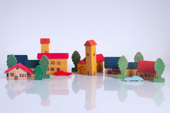Wooden village Stock Images