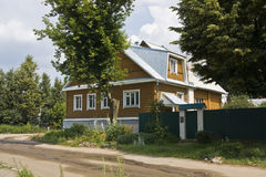 Wooden village house Stock Photography