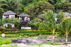 Wooden village in Thailand Royalty Free Stock Images