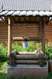 Wooden village Well Royalty Free Stock Photos