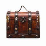 Wooden Vintage Chest Royalty Free Stock Photography
