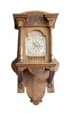 Wooden vintage clock Stock Photography