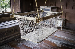 Wooden Vintage cradle  Bassinet for baby Stock Photography