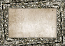 Wooden vintage frame Stock Images