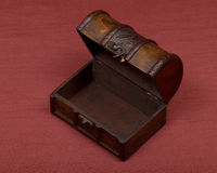 Wooden vintage jewelry box Royalty Free Stock Photography