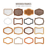 Wooden Vintage Labels Collection Royalty Free Stock Photo