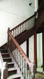 Wooden vintage stairs of old castle Stock Images