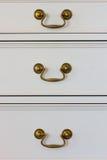 Wooden vintage white drawer Royalty Free Stock Photo