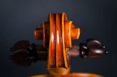 Wooden violin head Royalty Free Stock Photography