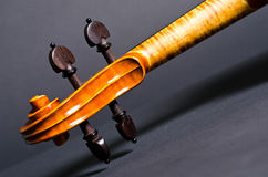 Wooden violin head Stock Photography