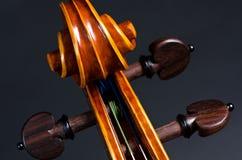 Wooden violin head Royalty Free Stock Photos
