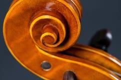 Wooden violin head Royalty Free Stock Image