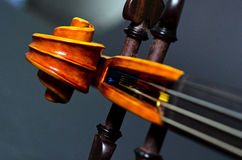 Wooden violin head Royalty Free Stock Images