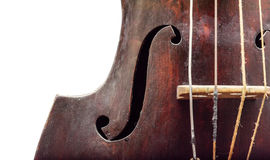 Wooden violin Stock Photography