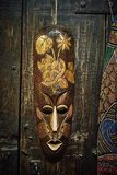 Wooden voodoo mask royalty free stock photos