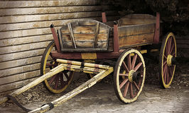 Wooden Wagon. Autumn scene with wooden wagon Stock Images