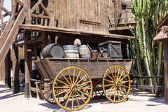 Wooden wagon with barrels in Mexico Royalty Free Stock Photo