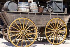 Wooden wagon with barrels in Mexico Stock Photos