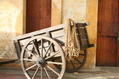 Wooden wagon cart Royalty Free Stock Images