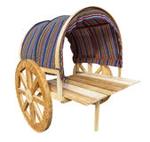 Wooden wagon isolated Royalty Free Stock Photos