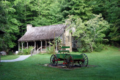 A wooden wagon from pioneer days Stock Photo