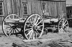 Wooden wagon in western ghost town, usa Royalty Free Stock Photography