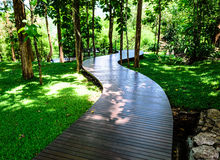 Wooden Walk Curve Way. The Wooden Walk Curve Way Royalty Free Stock Image