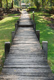 Wooden walk way Royalty Free Stock Image
