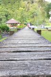 Wooden walking path Royalty Free Stock Images
