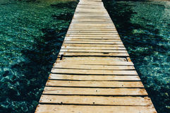 Wooden walkway Stock Photos