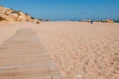 Wooden walkway on beach Royalty Free Stock Photos