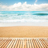 Wooden walkway at beach Royalty Free Stock Photos