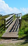 Wooden walkway and blue sky Royalty Free Stock Photo
