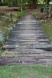 Wooden walkway in forest Stock Image