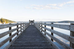 Wooden Walkway in Orcas Island Harbor Stock Photos