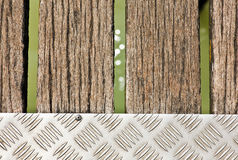 A detail of a wooden pier  Stock Photography