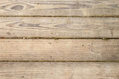 Wooden walkway in a park, natural patterns. Walkway in a park made of wooden planks Royalty Free Stock Photo