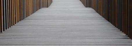 Wooden walkway in park Stock Photo