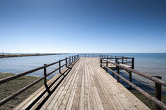 Wooden walkway. Royalty Free Stock Photos