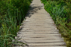 Wooden walkway at Plitvice Lakes National Park Royalty Free Stock Photos