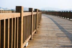 Wooden walkway on seaside Stock Photography